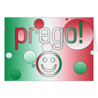 ¡Prego! La bandera de Italia colorea arte pop Tarjeta Pequeña
