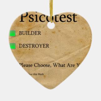 Pregunta agradable del destructor del constructor adorno de cerámica en forma de corazón