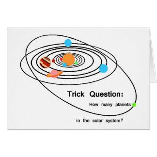 Pregunta del truco de los planetas de Plutón Tarjetón