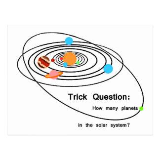 Pregunta del truco de los planetas de Plutón Postal