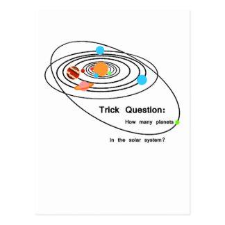 Pregunta del truco de los planetas de Plutón Tarjeta Postal