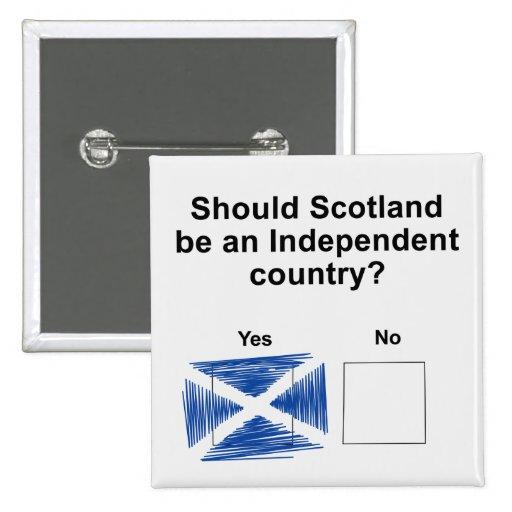 Pregunta escocesa del referéndum de la independenc pins