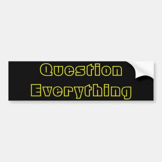 Pregunta todo pegatina para auto