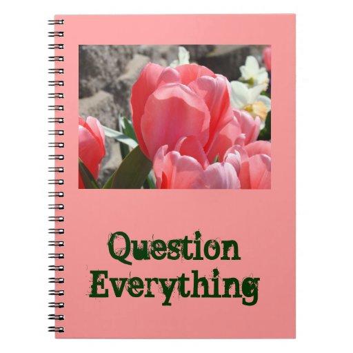 Pregunta todo cuadernos personalizados primavera