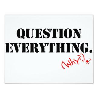 """Pregunta todo invitación 4.25"""" x 5.5"""""""