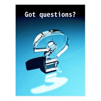 ¿Preguntas conseguidas? Postal