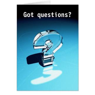 ¿Preguntas conseguidas? Tarjeta De Felicitación