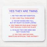 Preguntas de los gemelos fraternales alfombrilla de raton