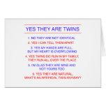 Preguntas de los gemelos fraternales tarjeton