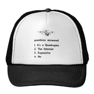 preguntas del abejón del quadcopter contestadas gorro de camionero