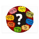 Preguntas hebreas tarjeta postal