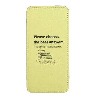 Preguntas indecisas de la opción múltiple funda para iPhone 5