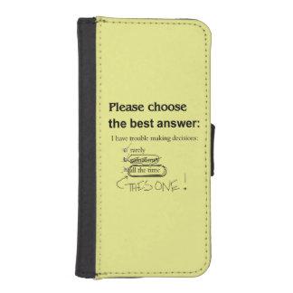 Preguntas indecisas de la opción múltiple funda tipo billetera para iPhone 5