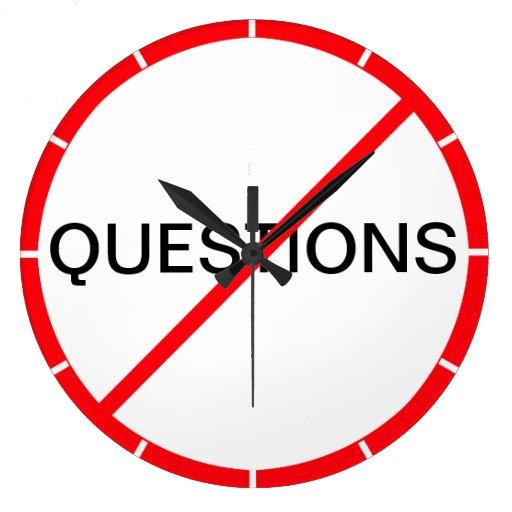 ¡Preguntas prohibidas! Reloj Redondo Grande