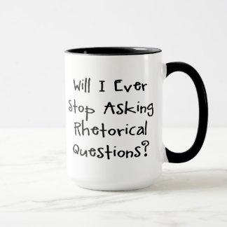 Preguntas retóricas - lema divertido de la taza