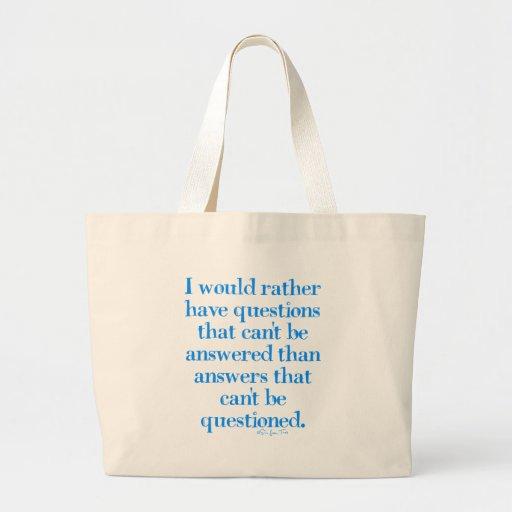 Preguntas y respuestas bolsa tela grande