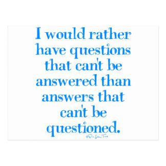 Preguntas y respuestas postales