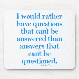 Preguntas y respuestas tapete de ratón