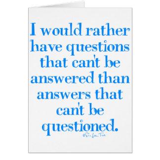 Preguntas y respuestas tarjeta de felicitación
