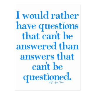 Preguntas y respuestas tarjetas postales