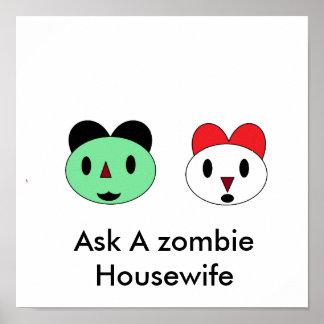 Pregunte a ama de casa del zombi de A Posters