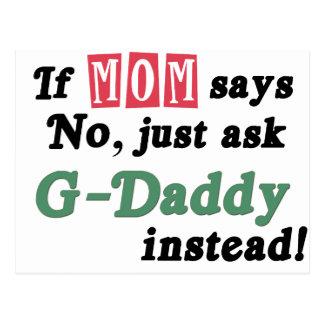 Pregunte a G-Papá en lugar de otro Postal
