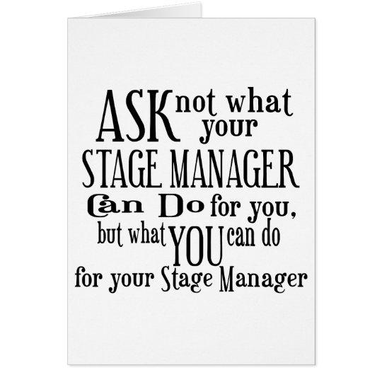 Pregunte no a director de escena tarjeta de felicitación