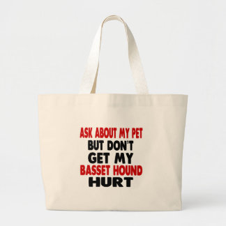 Pregunte por mi Basset Hound Bolsa Tela Grande