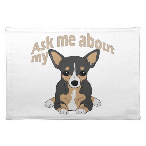 Pregunte por mi chihuahua 2 manteles