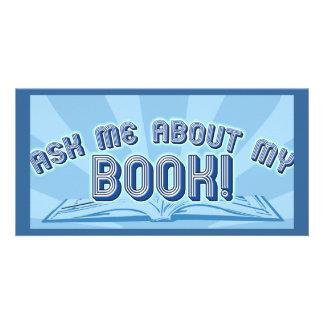 Pregunte por mi libro tarjeta fotográfica