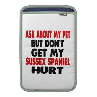 Pregunte por mi perro de aguas de Sussex Fundas Macbook Air