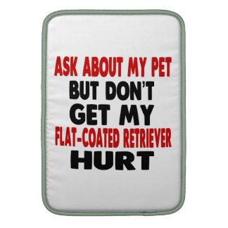 Pregunte por mi perro perdiguero Plano-Revestido Funda Macbook Air