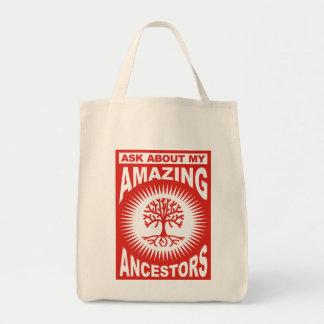 Pregunte por mis antepasados asombrosos bolsa tela para la compra