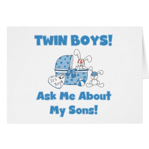 Pregunte por mis camisetas y regalos gemelos de lo tarjetón