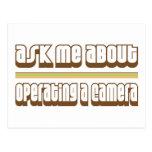 Pregúnteme acerca de actuar una cámara tarjetas postales