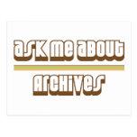Pregúnteme acerca de archivos tarjeta postal