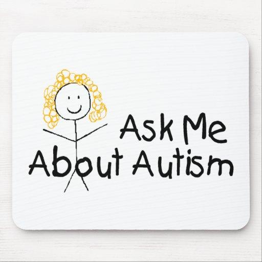 Pregúnteme acerca de autismo alfombrillas de ratones