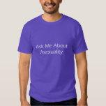Pregúnteme acerca de camiseta del Asexuality AAW13 Poleras