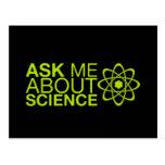 Pregúnteme acerca de ciencia tarjetas postales