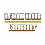 Pregúnteme acerca de idiomas tarjetas postales