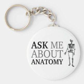 Pregúnteme acerca de la anatomía llavero redondo tipo pin