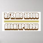 Pregúnteme acerca de la antropología poster