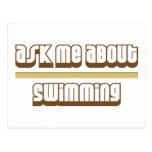 Pregúnteme acerca de la natación tarjetas postales