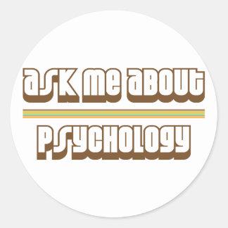 Pregúnteme acerca de la psicología pegatina redonda