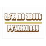 Pregúnteme acerca de la psicología tarjeta postal