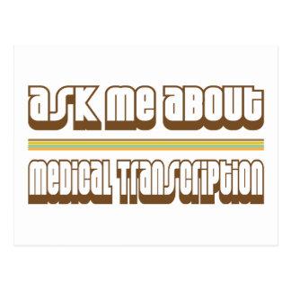 Pregúnteme acerca de la transcripción médica postal