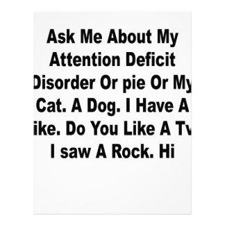 Pregúnteme acerca de mi déficit de atención membrete personalizado