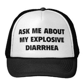 Pregúnteme acerca de mi diarrea explosiva gorros bordados