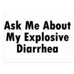 Pregúnteme acerca de mi diarrea explosiva postales