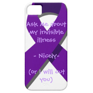 Pregúnteme acerca de mi enfermedad invisible iPhone 5 funda